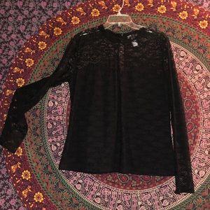 Tops - Black lace blouse